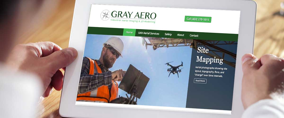 Gray Aero Responsive Website Theme