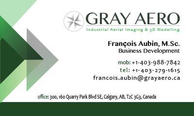 Gray Aero Business Cards